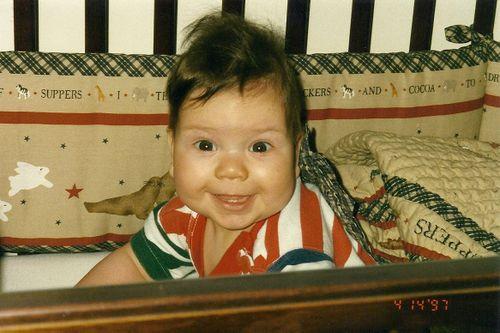 Baby Jake in crib