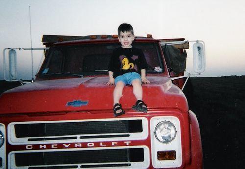 Jake on the wheat truck
