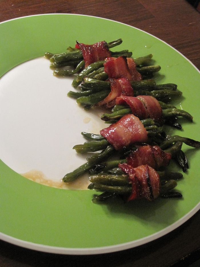 Bacon wrapped green beans 217
