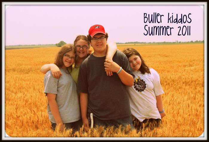 Buller kids in wheat