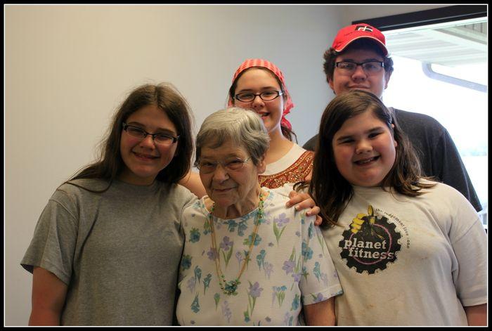 Kids with Aunt Darlene