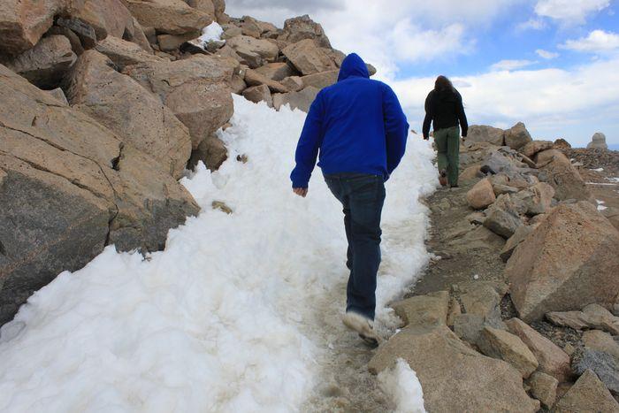 Last hike up